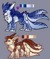 Fading Stripes Kitsune MiniAuction by MystikMeep