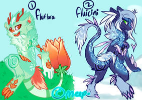 [CLOSED] First Fluflora 'n Fluicini by MystikMeep