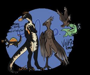 [Temp Character Refs] ARK: Nazzi n Valkion by MystikMeep