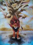 The Lion King. Simba and Mufasa.