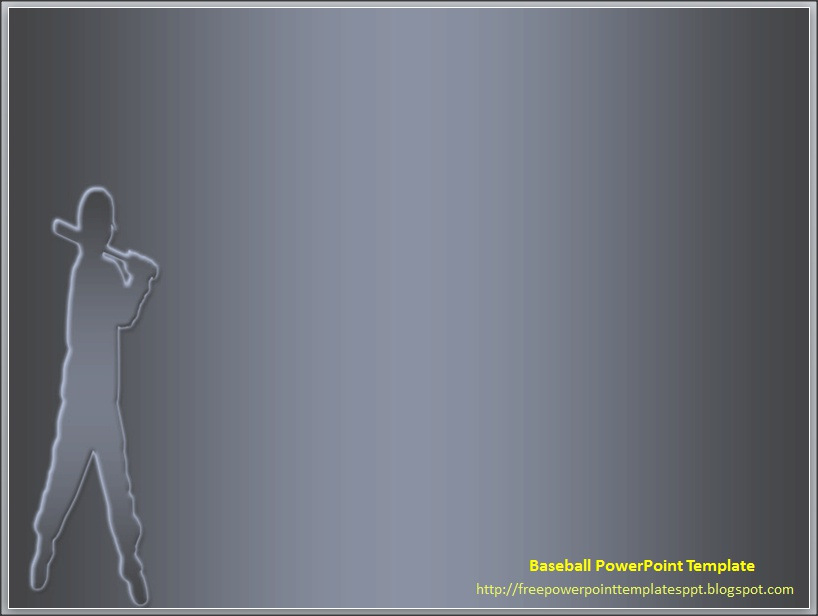 baseball themed powerpoint template background ppt by