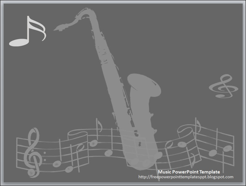 Jazz music theme powerpoint template free download by for Music themed powerpoint templates