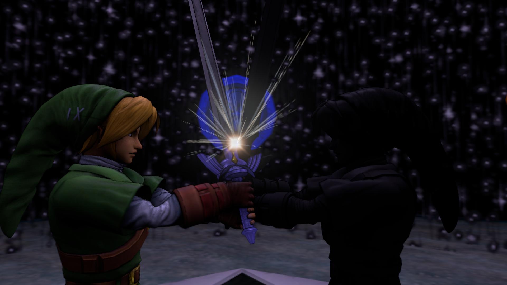 the legend of zelda link vs dark link by gamingbayside