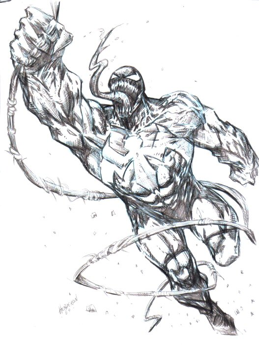 Venom Spiderman Drawing venom sketch by...