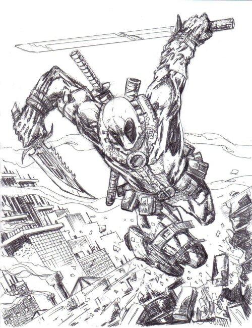 Deadpool pen sketch by dogsoldierr on DeviantArt Easy Rider Movie Poster