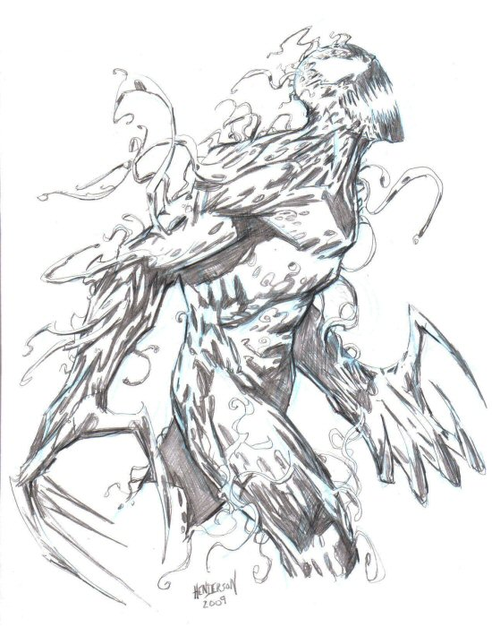 Spiderman vs carnage drawings - photo#41