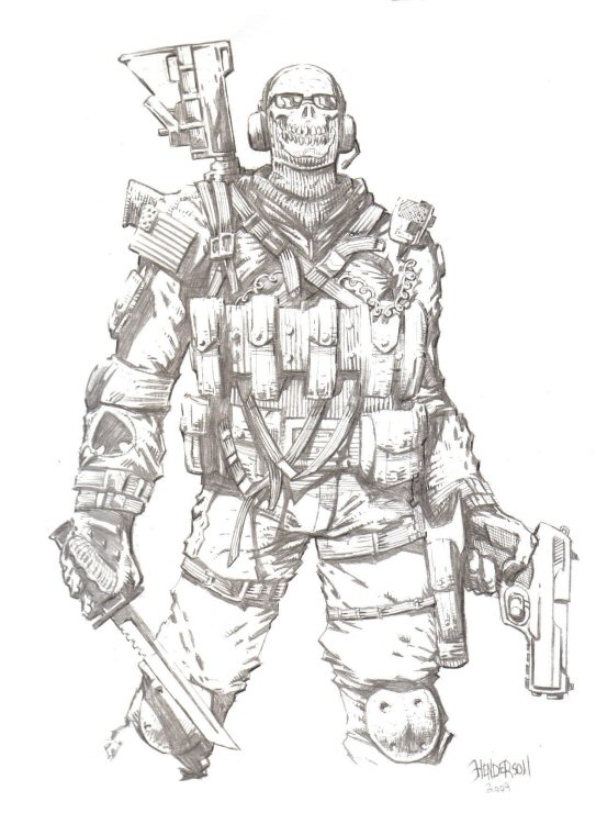 Coloring Pages Of Advanced Warfare : Modern warfare ghost by dogsoldierr on deviantart