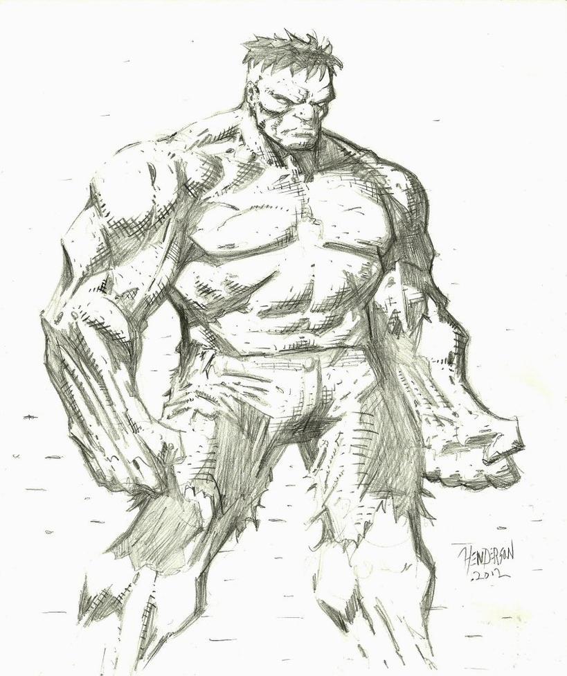 Hulk Sketch By Dogsoldierr On DeviantArt