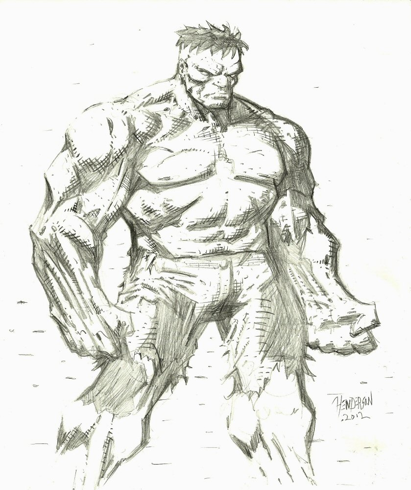 hulk sketch by ... The Incredible Hulk Sketch