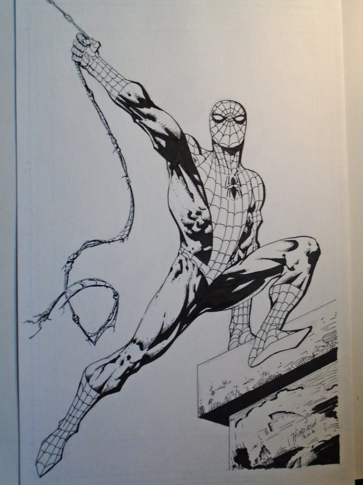 Spider-man inked by dogsoldierr