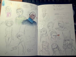 Tower of God characters by MuBiU