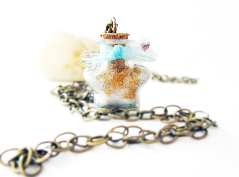 Tiny Star bottle Charm Necklace by Thekawaiiod