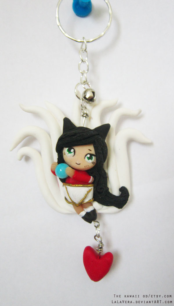 Ahri Key chain by Thekawaiiod