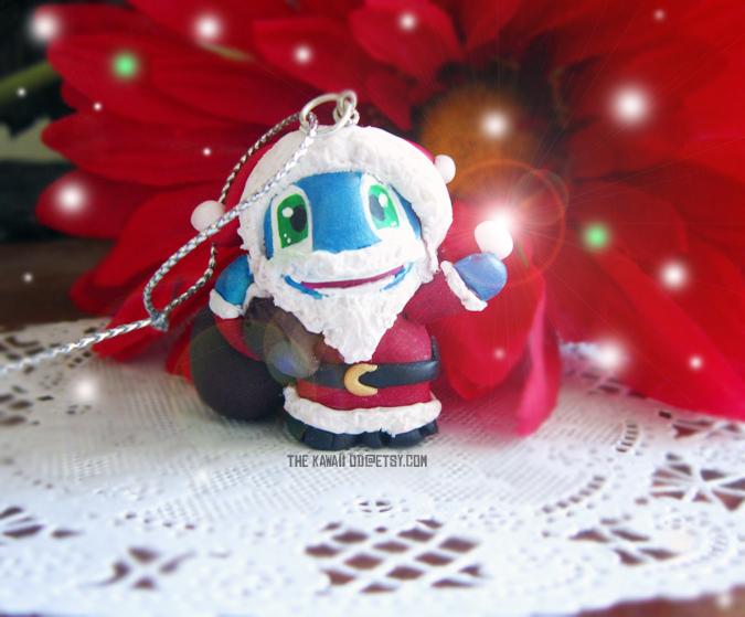Santa Fizz Christmas Ornament by Thekawaiiod