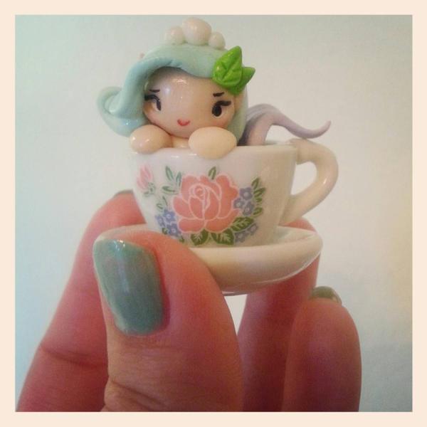 Mermaid in a tea cup by Thekawaiiod