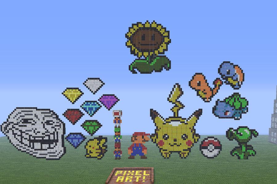 pixel art , buenas casas, y estructuras de minecraft