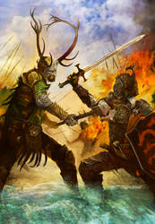 Battle of the Trident by arankin