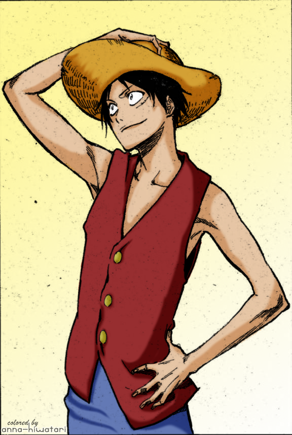 kubo coloring pages - luffy by kubo tite coloring challenge by annahiwatari on