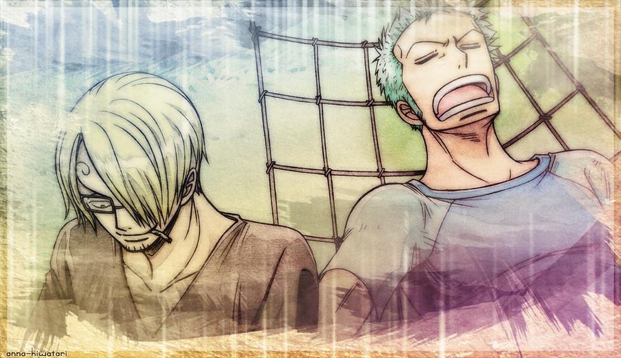 When the two get along, Zoro Sanji wallpaper by AnnaHiwatari