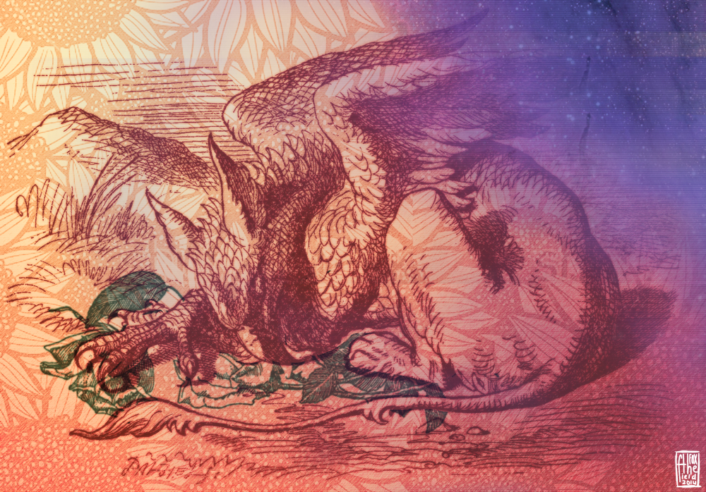 a gryphon's lammas (prints available!) by thefieldfox