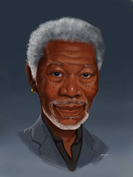 Morgan Freeman - Digital Caricature