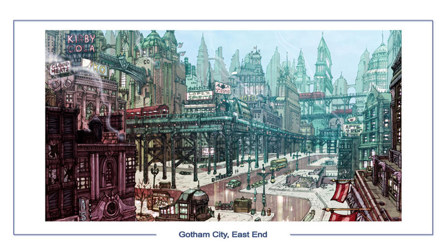 DC Online Gotham, Eastend by olivernome