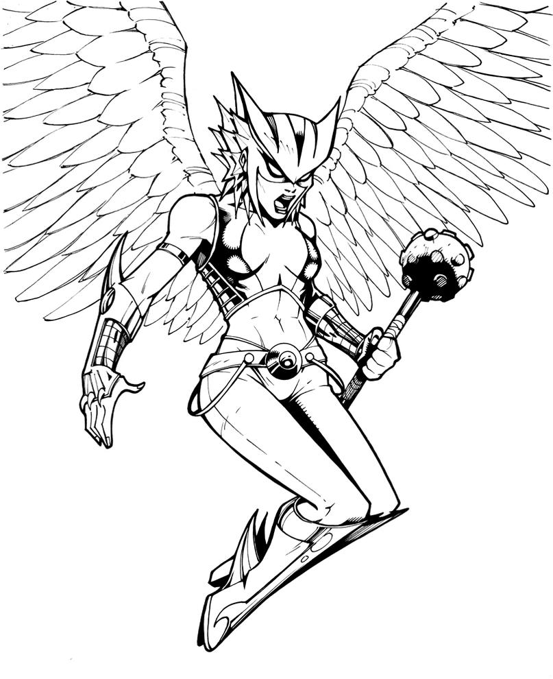 coloring pages hawkgirl | Hawkgirl by olivernome on DeviantArt