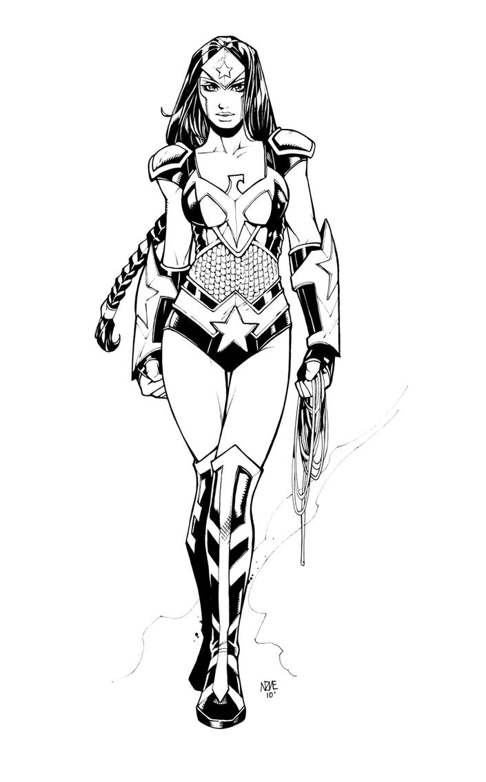 Coloring pages wonder woman - Wonder Woman 5 0 By Olivernome