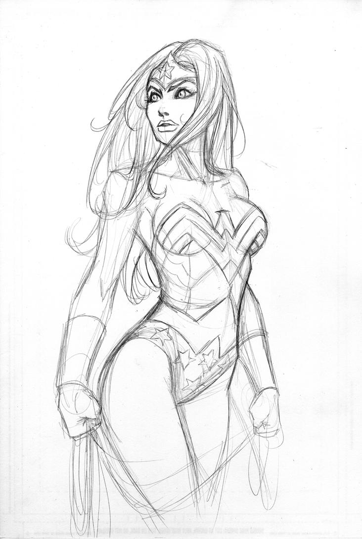 Wonder Woman Pencil Drawings