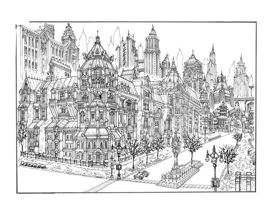 GOTHAM CITY 1 by olivernome