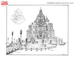 GOTHAM CITY HALL by olivernome