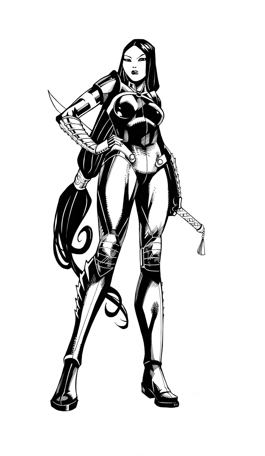 Lady Shiva inks