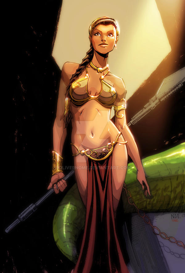 Slave Leia by olivernome