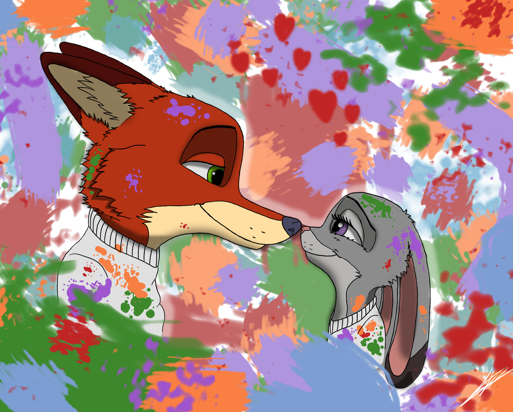 Zootopia - Love is so colorful by Echoes-the-loyal