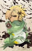 Green Tree Frog : Ripple Card by evanjensen