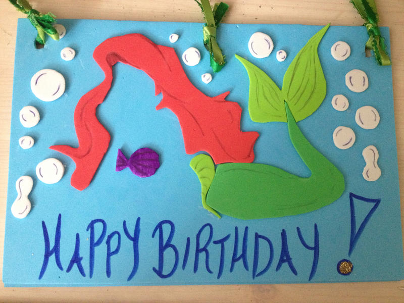 Disneys The Little Mermaid Ariel Birthday Card By Little Shy Me On