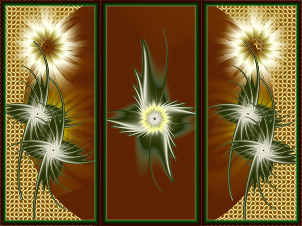 Triptych III - Asahi Kusabana by graphicMADness