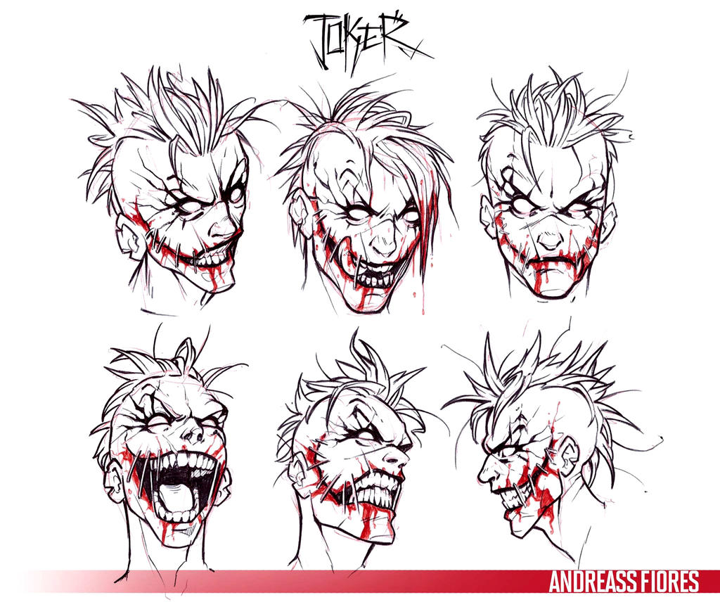 Joker Face Sketch By AndreasS88
