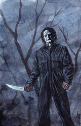 Michael Myers Watercolor