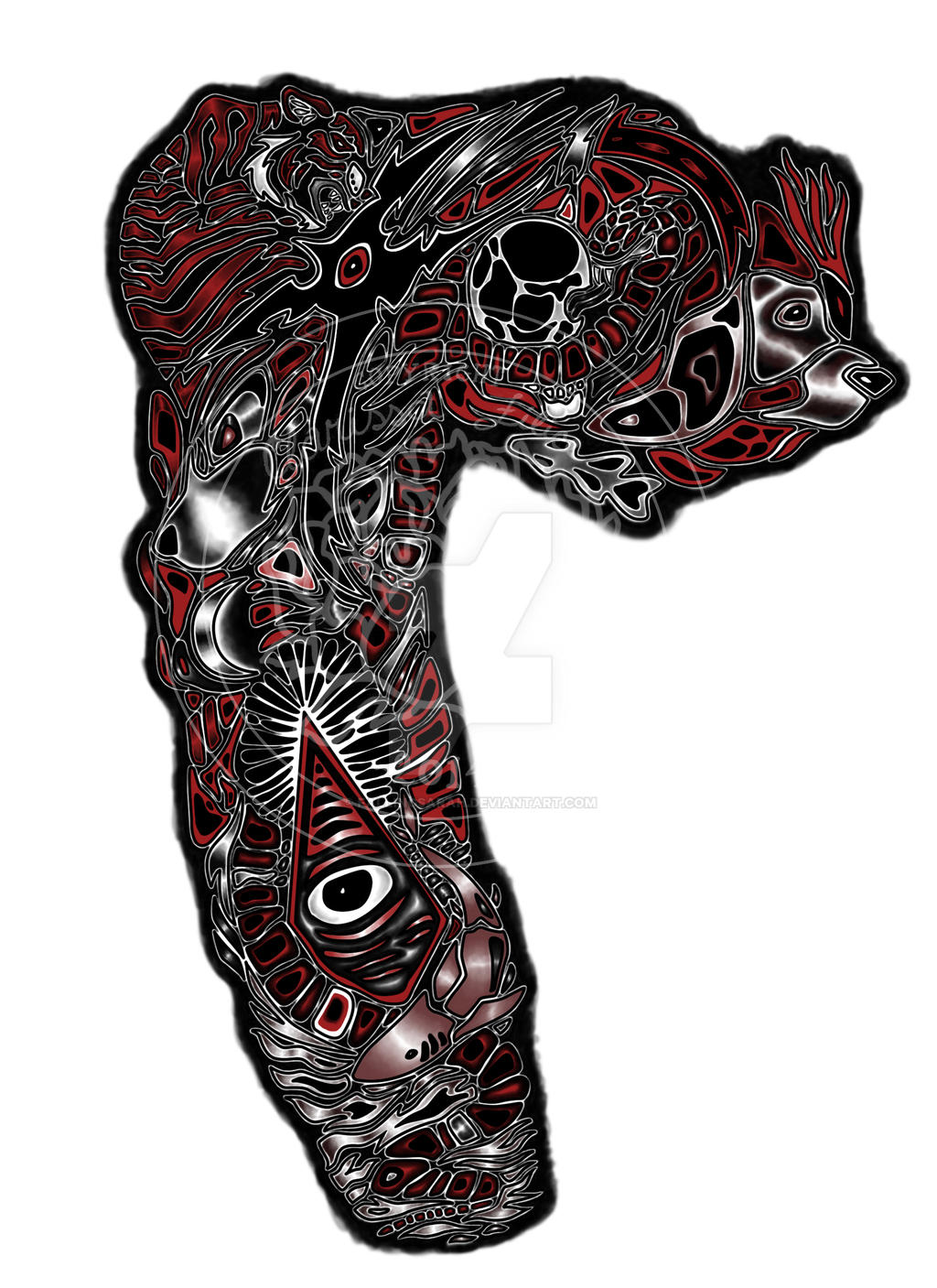 Custom tattoo design menagerie by fallingsarah on deviantart for Full custom tattoo
