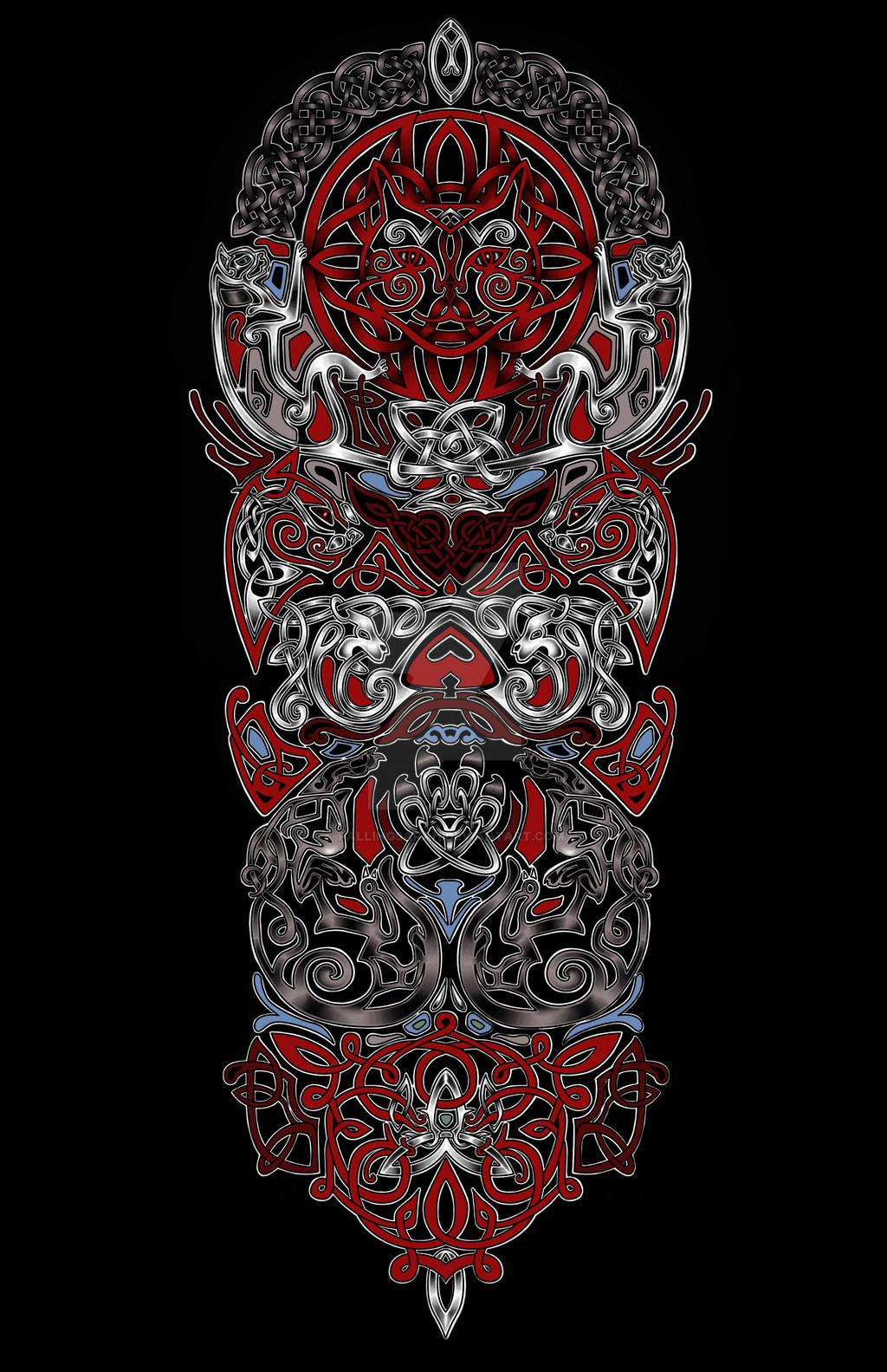 celtic cat tattoo by fallingsarah on deviantart. Black Bedroom Furniture Sets. Home Design Ideas