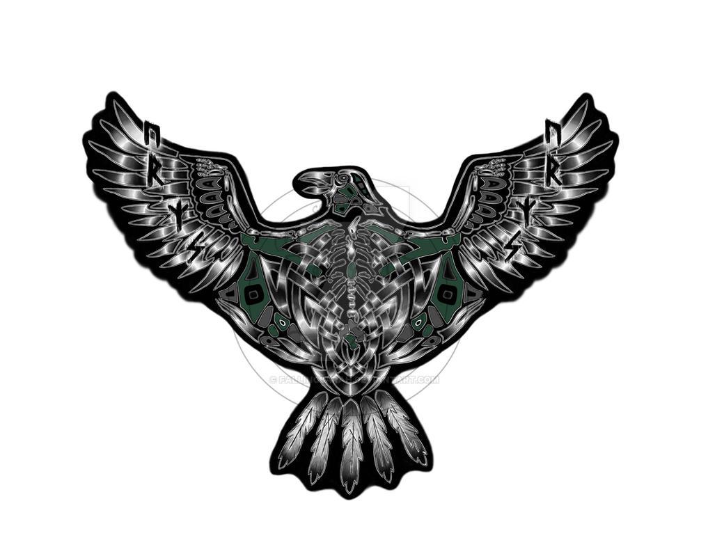 Celtic Raven Tattoo by fallingSarah