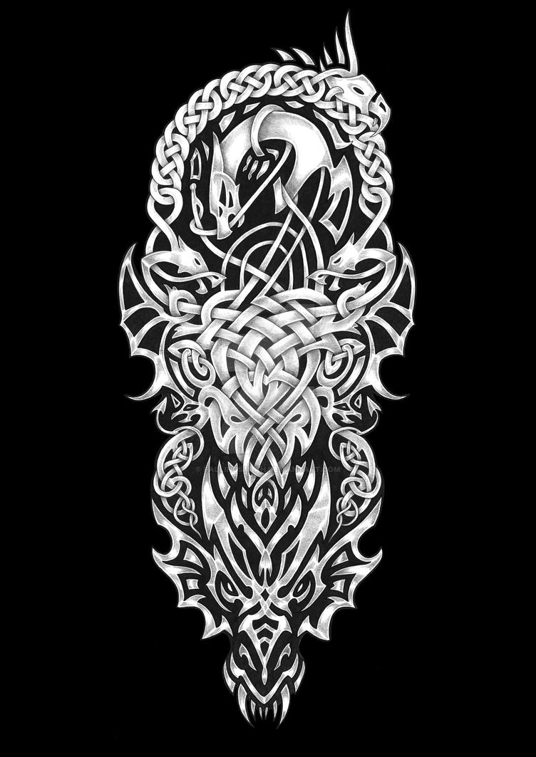 20629cac8 Celtic Dragon Tattoo by fallingSarah on DeviantArt
