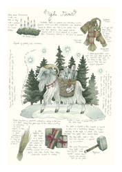 Yule Goat Illustrated Journal Page