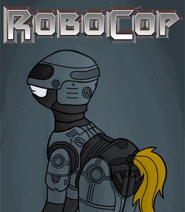 Rydel's Art - Page 3 Robocop_pony_by_rydelfox-d4cyrqs