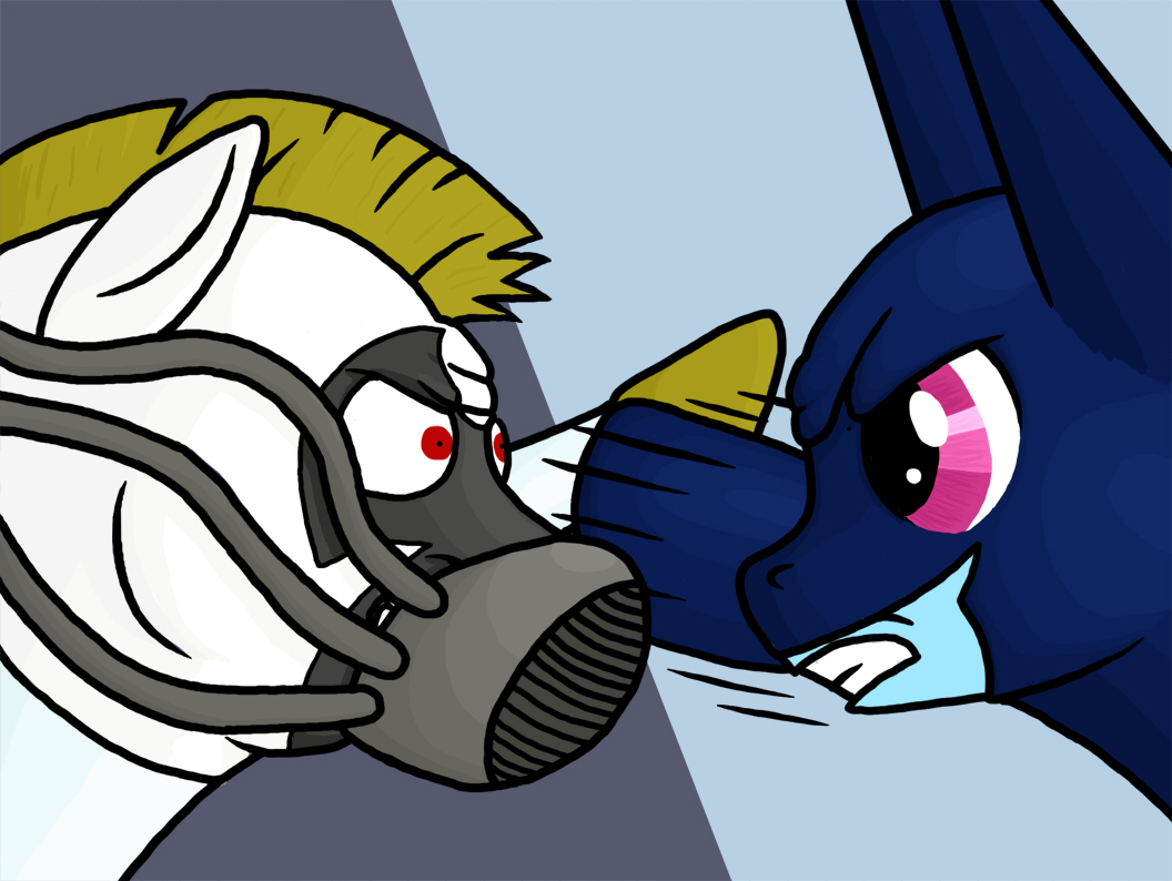 Rydel's Art - Page 6 Batmare_vs_pony_bane_by_rydelfox-d5a12c3