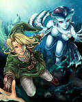 Link and Princess Ruto - Bathe in Time