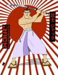 Samurai Jack, Sword Drawn and Ready to Strike by Hei-in-Tampa