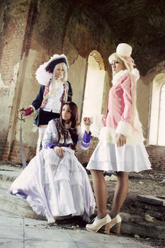 Fem!Prussia Fem!Russia Fem!Austria cosplay
