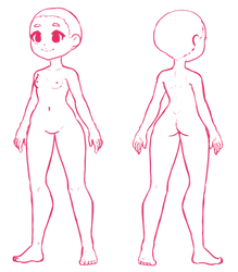 Girl base lineart F2U by Yesirukey